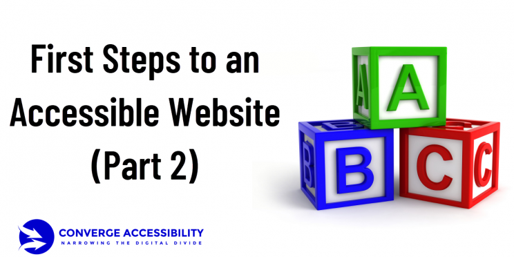 First Steps to an Accessible Website - Part 2