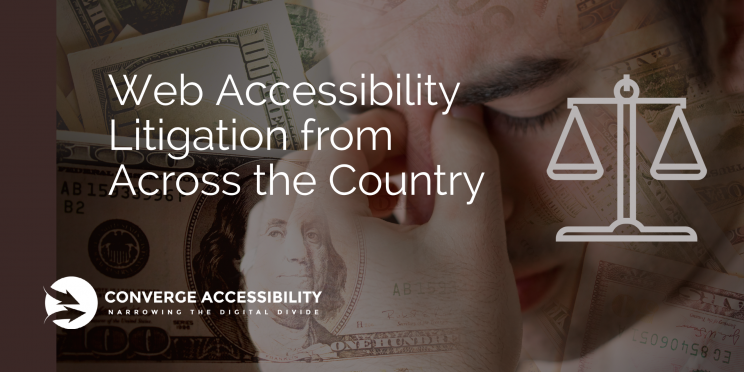 "Background Image with Text ""Web Accessibility Litigation from Across the Country"""