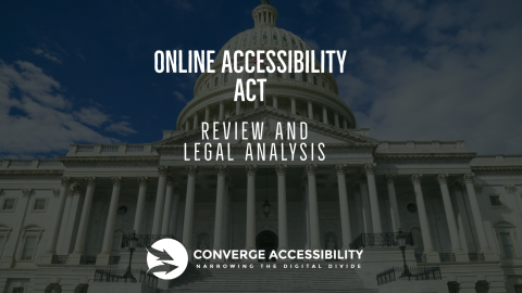 """Background image with text """"Online Accessibility Act: Review and Legal Analysis"""""""