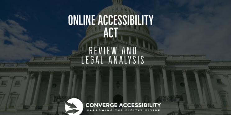 "Background image with text ""Online Accessibility Act: Review and Legal Analysis"""