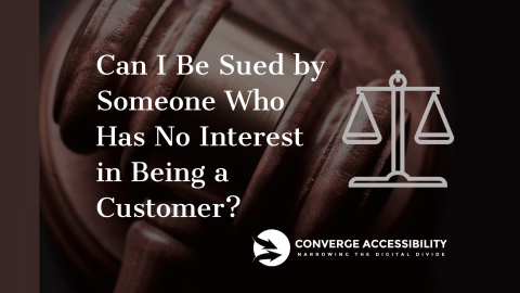 "Background Image with Text ""Can I Be Sued by Someone Who Has No Interest in Being a Customer""?"