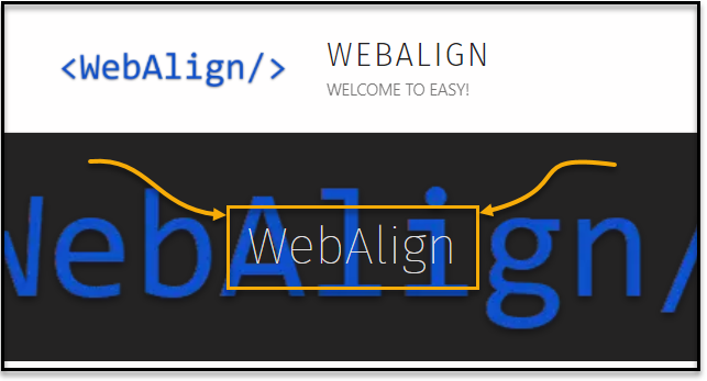 Screen capture of the WebAlign home page showing the WebAlign banner with the WebAlign text highlighted..