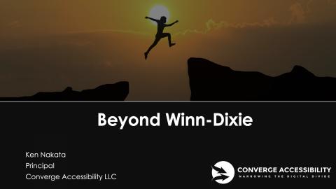 "Title Screen to Webinar with Title ""Beyond Winn Dixie"""